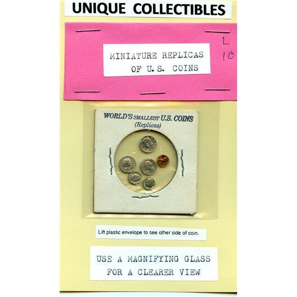 Unique Collectible - A set of 6 miniature US coins
