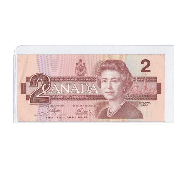 1986 $2 Bill AUA8968057
