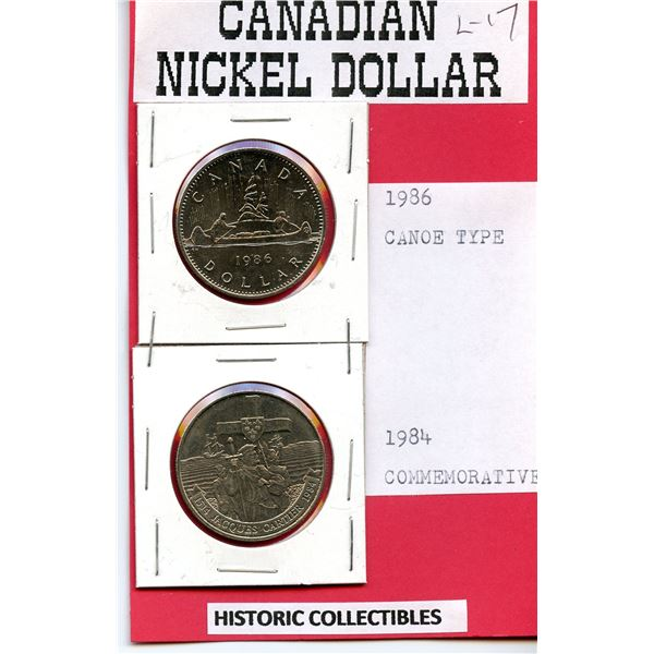 Canadian Dollars 1986 and 1984