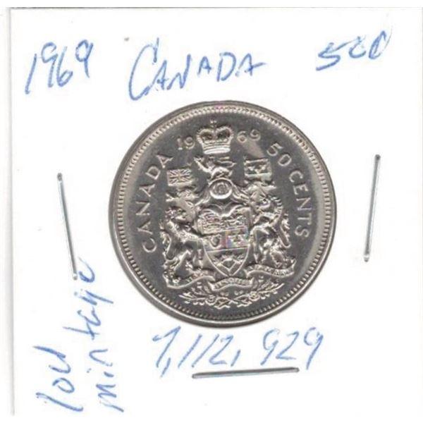1969  50 Cents low mintage 7,112,929