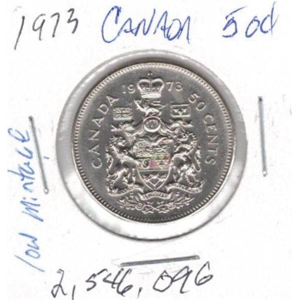 1973  50 Cents low mintage 2,546,096