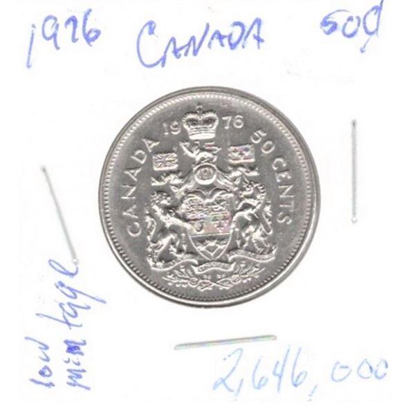 1976 50 Cents low mintage 2,646,000