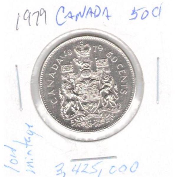 1979  50 Cents low mintage 3,425,000