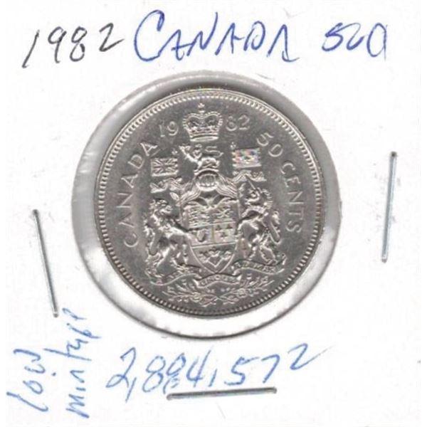1982  50 Cents low mintage 2,884,572