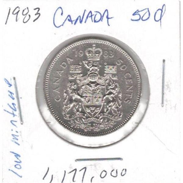 1983  50 Cents low mintage 1,177,000