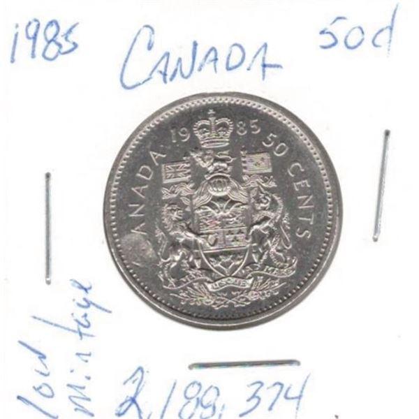 1985  50 Cents low mintage 2,188,374