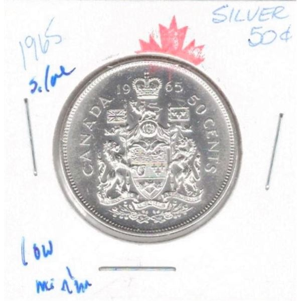 1964 50 Cents SILVER low mintage 9,377,676 uncirc