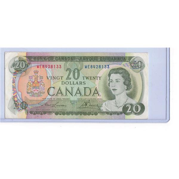 1969 Twenty Dollar Bill WE8428133