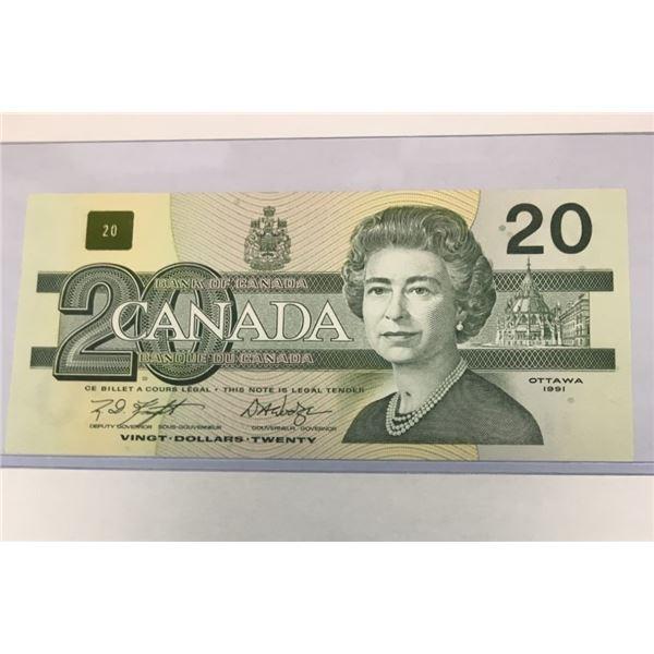 1991 Twenty Dollar Bill AYG1423754