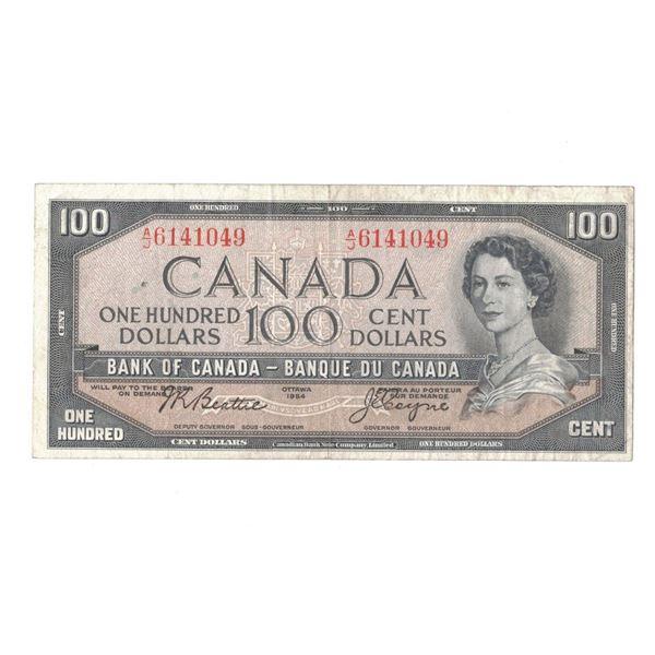 1954 One Hundred Dollar Bill - Beattie/Coyne A/J6141049