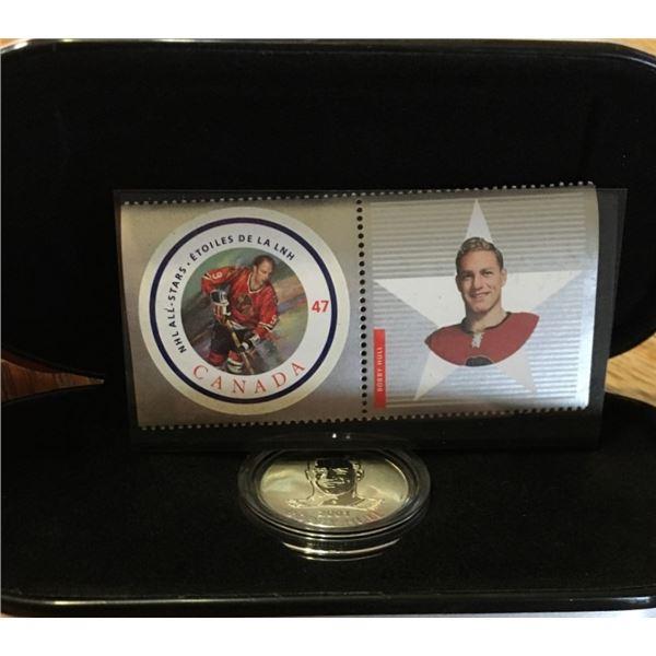 NHL All Stars 2001 Stamp and Medallion Set BOBBY HULL