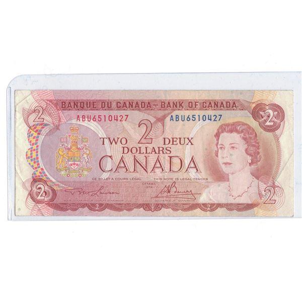 1974 $2 Bill ABU6510427