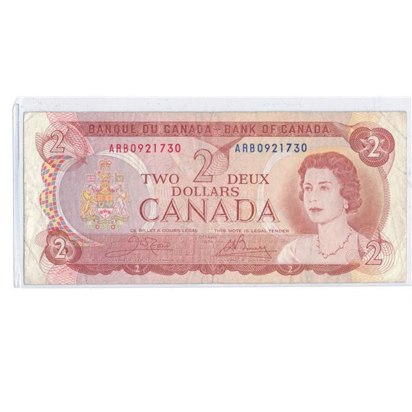 1974 $2 Bill ARB0921730