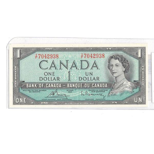 1954 One Dollar IF7042938 Bouey/Raminsky