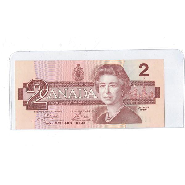 1986 $2 Bill AUB7785863