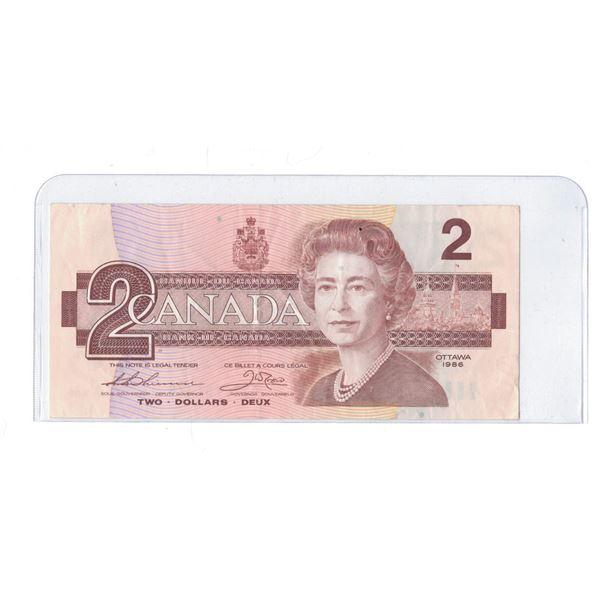 1986 $2 Bill CBE0151375