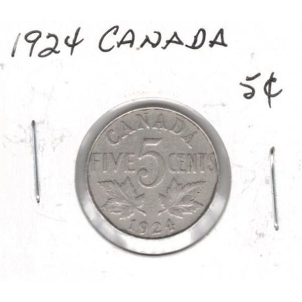 1924 Canadian 5 Cents
