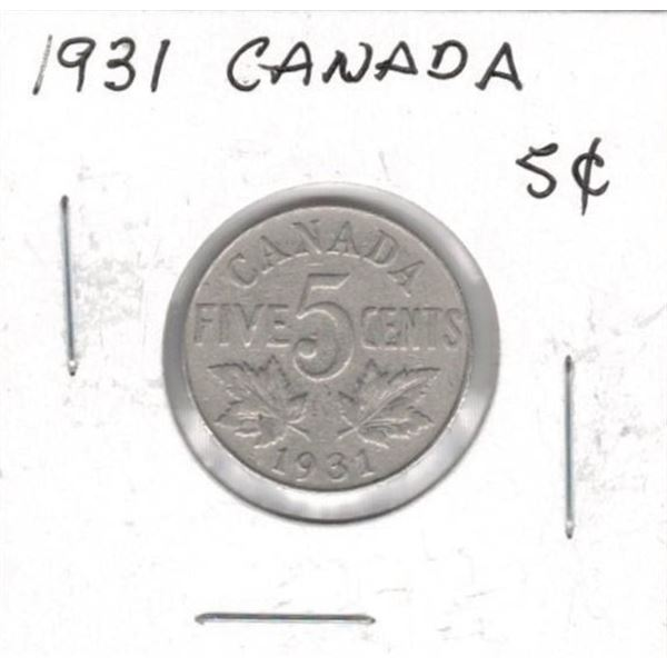 1931 Canadian 5 Cents