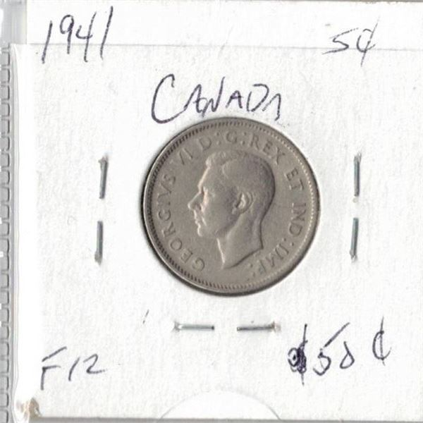 1941 Canadian 5 Cents