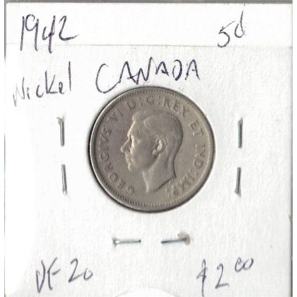 1942 Canadian 5 Cents