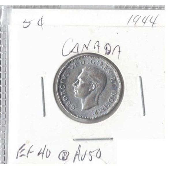 1944 Canadian 5 Cents