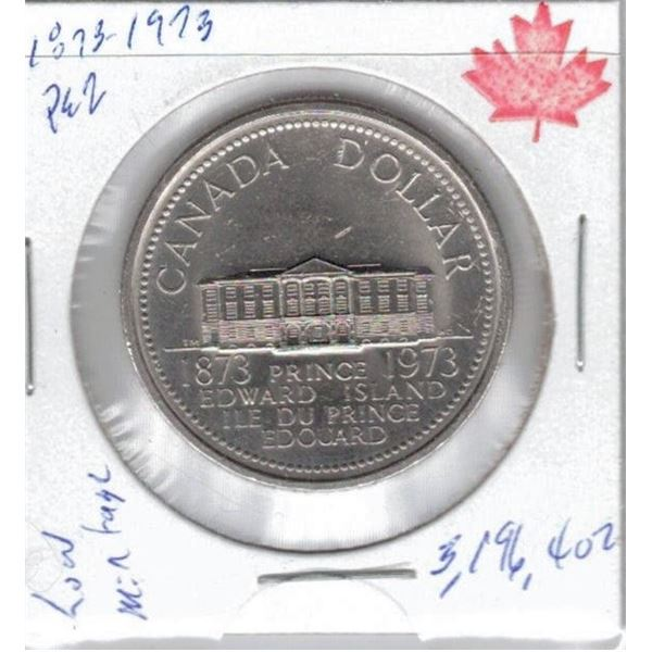 1973 One Dollar Coin  Prince Edward Island Centennial , Only  3,196,402 of these were made!