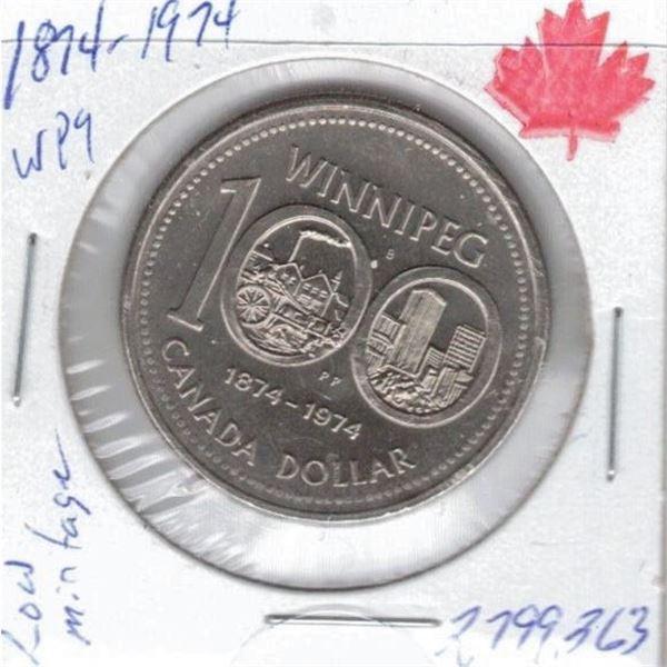 1974 - Winnipeg One Dollar Coin