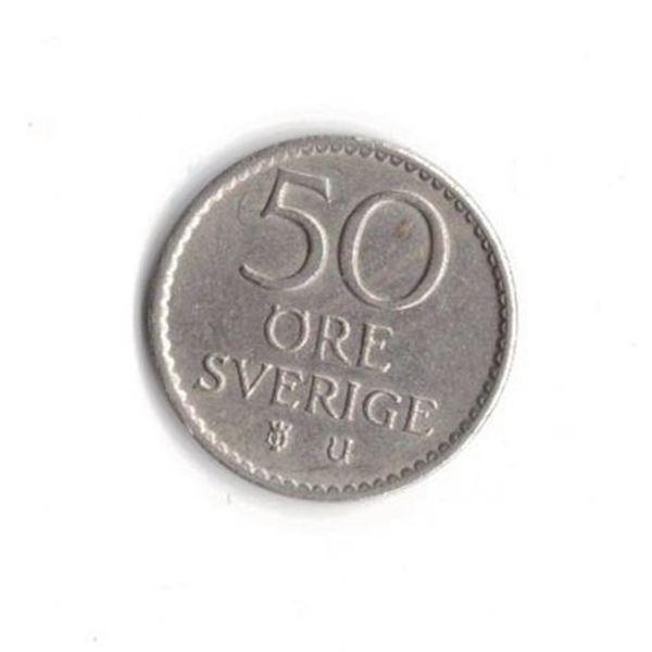 1969 Sweden, Gustaf VI, 50 Öre
