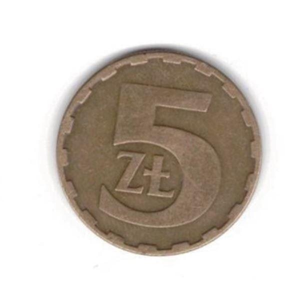 Poland 5 zlotych, 1985