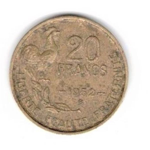 1952 B FRANCE Coin - 20 Francs