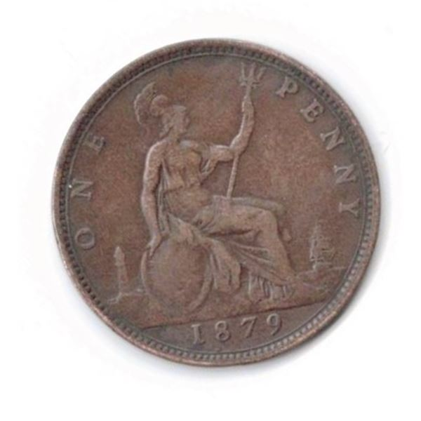 1879 Penny with Queen Victoria