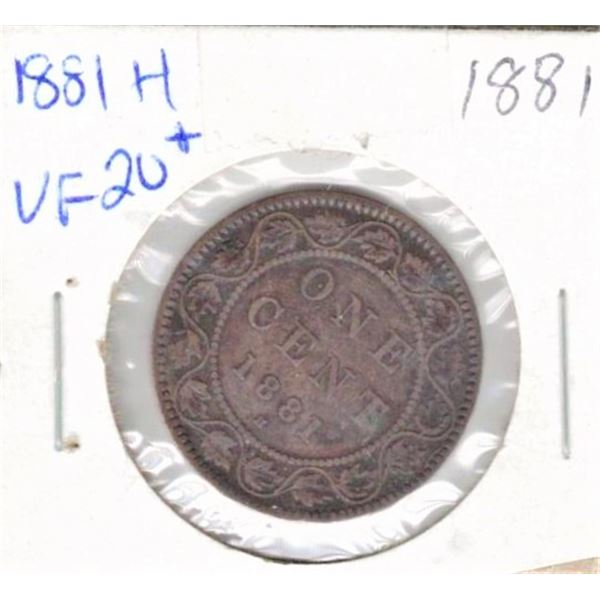 1881 H One Penny