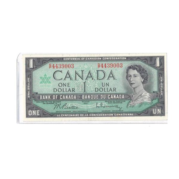 1967 $1 Bill GP4439003 Beattie/Raminsky  GEM
