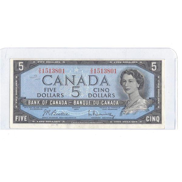 1954 $5 Bill XS1513801 Beattie / Coyne