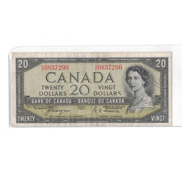 1954 $20 Bill BE0837290