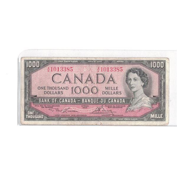 1954 $1000 Bill AK1013385