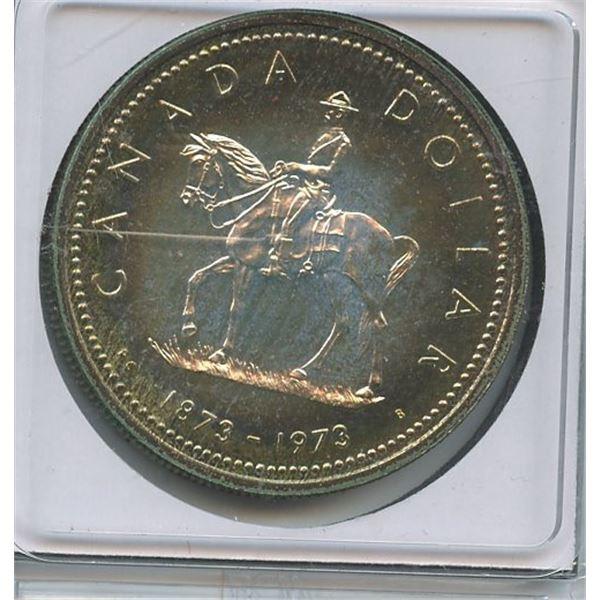 1872 - 1973 SILVER Dollar Celebrating RCMP