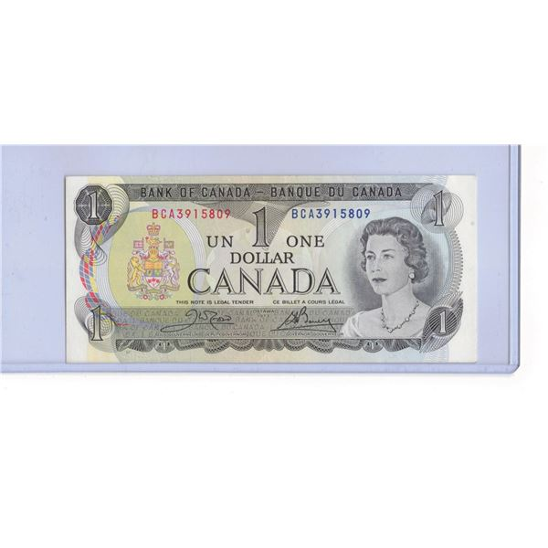 1973 Canadian One Dollar Bank note BCA3915809