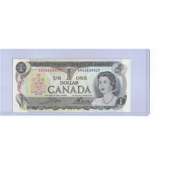 1973 Canadian One Dollar Bank note AMG6828427