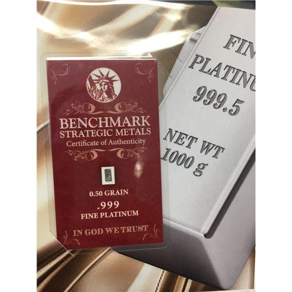 0.50 grain of fine platinum