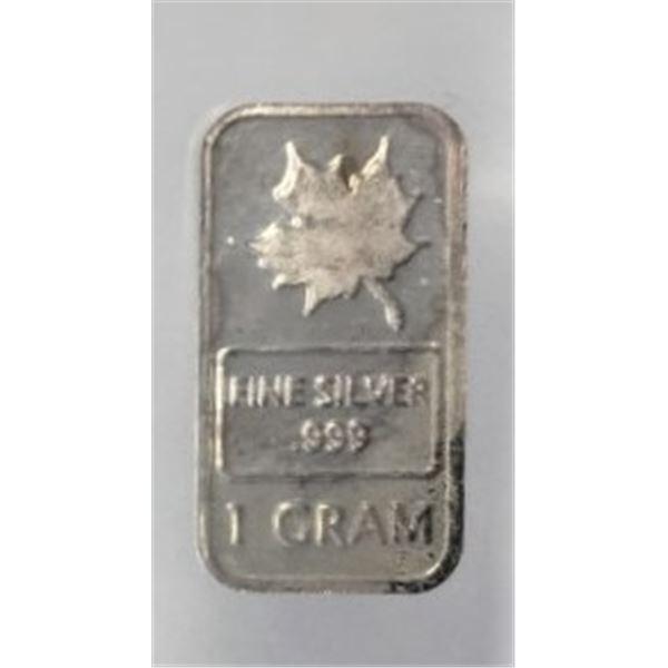 1 gram of fine silver