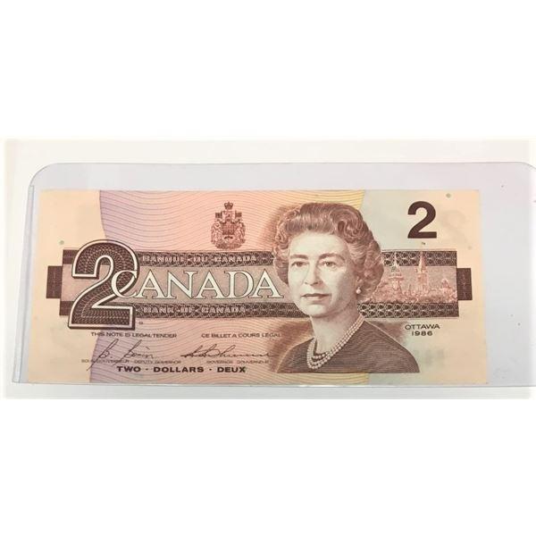 1986 Canadian Two Dollar Bill CBI9739486