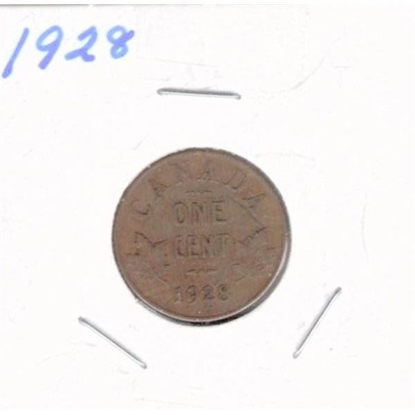 1928 Canadian One Cent
