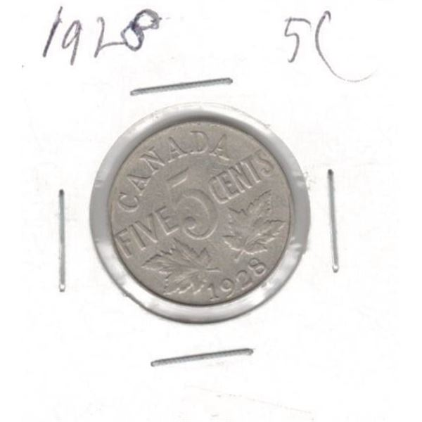 1928 Canada Five Cent