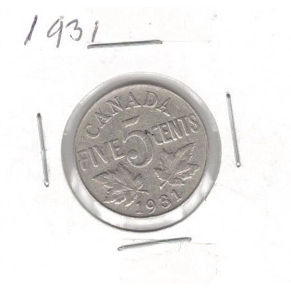 1931 Canada Five Cent