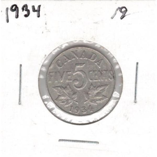 1934 Canada Five Cent