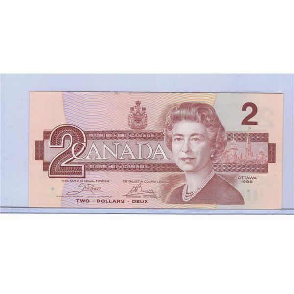 1986 Canadian Two Dollar Bill ARF2020836
