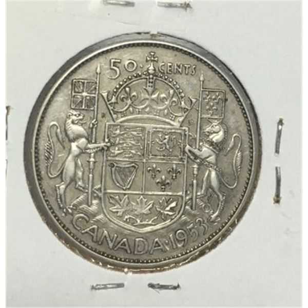 1953 Canadian 50 cent coin