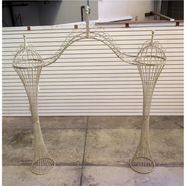 """Very Tall Double Column Decorative Arch Prop 93"""" x 19"""" x 110"""" Tall (Tag $1,598)"""