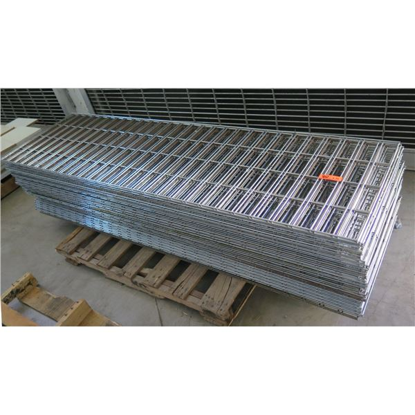 """Qty 39 Expanded Metal Wire Framing or Mounted Racks 84""""x24"""""""